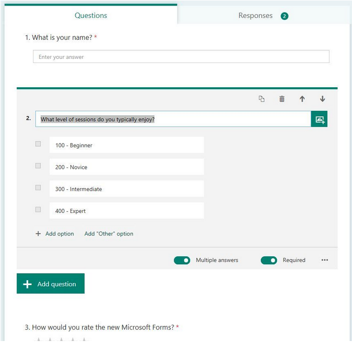 Collect information with Microsoft Forms